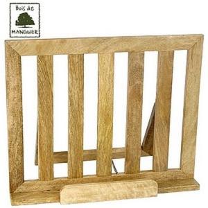 Lutrin pupitre repose livre en bois de manguier massif - Repose livre cuisine ...